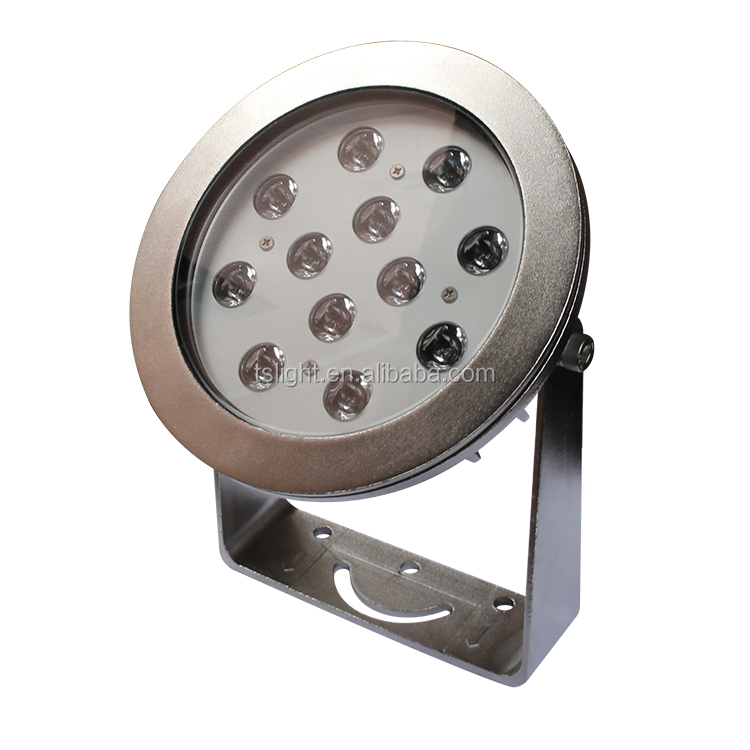 316 stainless steel Ip68 waterproof DMX 512 12 Watt rechargeable floating led pool light with CE,Rohs