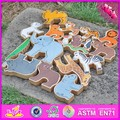 custom educational wooden animal toys for kids W13A111-S