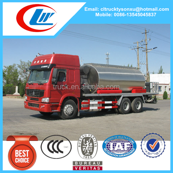 Road construction type and new condition asphalt spraying truck