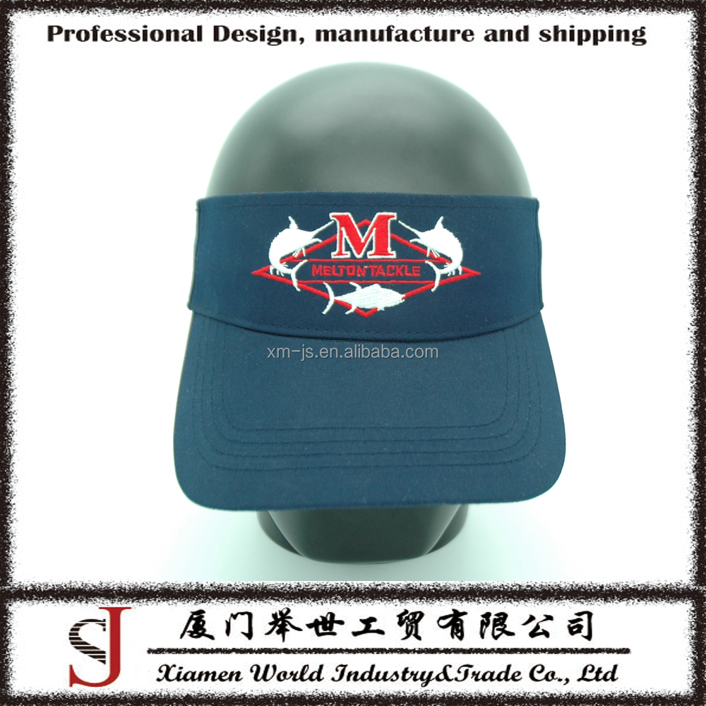 Factory direct sale cool men style adjustable sun hats visors with embroidery