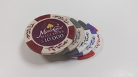 custom plastic Las Vegas counter /jetton/ Casino token /card game currency chip coin
