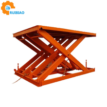 CE stationary upright scissor lift warehouse goods lift