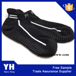 China Factory 2015 New Design Men PVC Dot Anti Slip Grip Yoga Pilates Socks