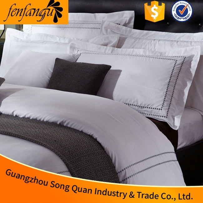 100% Cotton New Style Jacquard Hotel Linen/ Bedding Set/Bed Sheets From China Factory