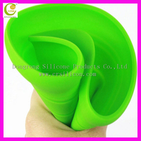 Silicone dog chew frisbee flying training unbreakable dog favourite pet frisbee indestructible strong pets toy
