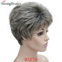 strongbeauty синтетические короткие вьющиеся волосы пас натуральная blond/serbia-серый парк с камере для для женщин много цвет для выбрать