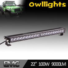 "12volt LED Light Bar , 100w 22"" for Offroad Single Row LED Light Bar , Fog Lamp for Truck 4x4 Offroad Buggy"