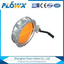 Single Flange Double Flange Aluminum Alloy Sanitary Powder Butterfly Valve