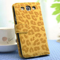 Clear Stock 2013 New phone accessory high quality fashion elegant design flip leopard leather wallet case for samsung galaxy s3