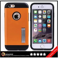 Keno Best Quality Generic Glossy Finish Rugged Slim Armor Case for iPhone 6 with Phone Stand
