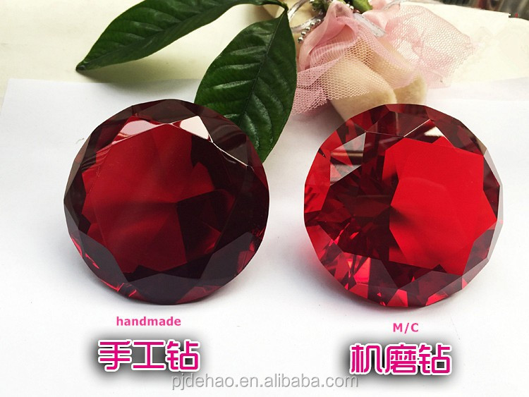 Machine Cut Wedding Gift K9 Red Large Crystal Diamond