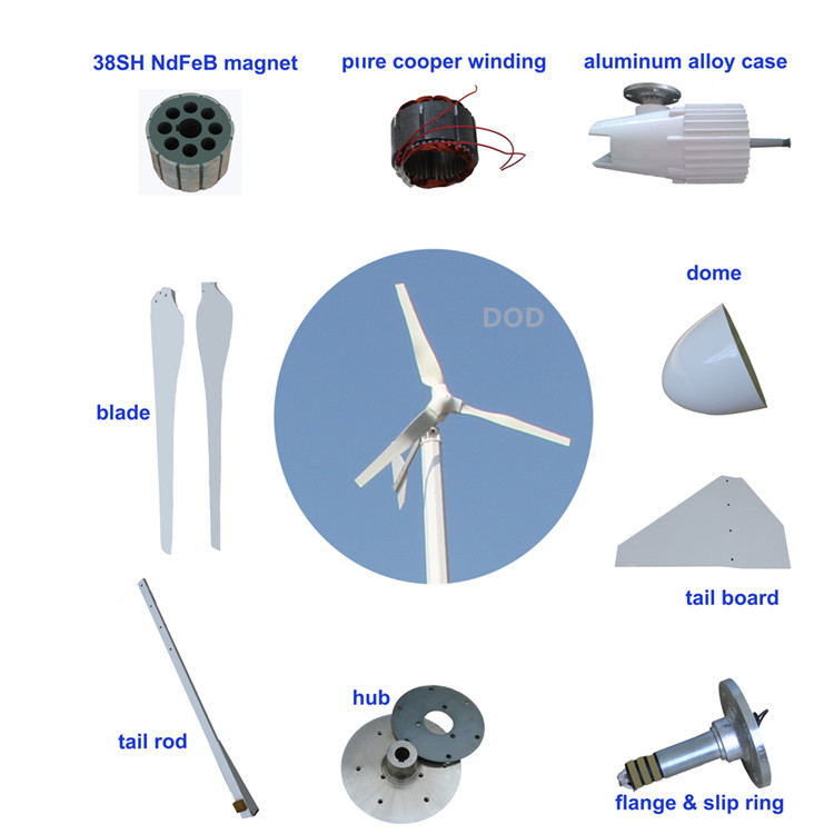 3kw 5kw 20kw home turbine hybrid system China high qualiy max 13kw 10kw 380v windmill