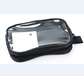Black Transparent PVC Clear Travel Cosmetic Bag Toiletry Kit With Side Handle