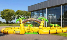 New inflatable best indoor mini golf game for kids and adult 12x9m