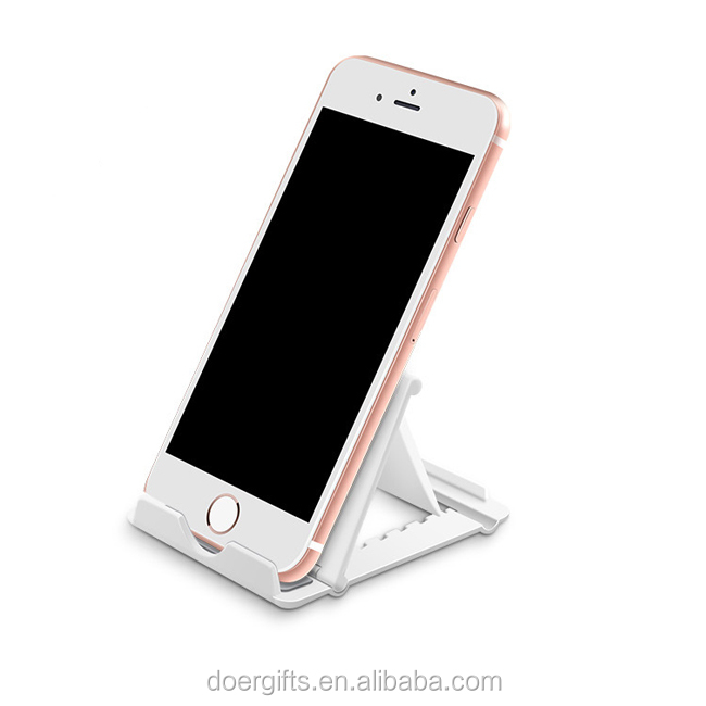 Hot Sale Custom Portable Cute Plastic Mobile Phone Stand/Folding Tablet Phone Stand