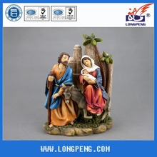Christmas Holy Family Statues,Flight Into Egypt Statue 10IN