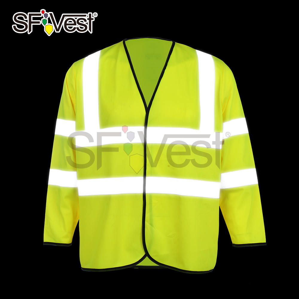 High Visibility Safety Reflective Long Sleeve Vest