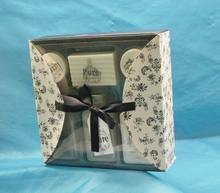 customize paper box bath and body gift set ,paper box and label ,bath spa gift set box