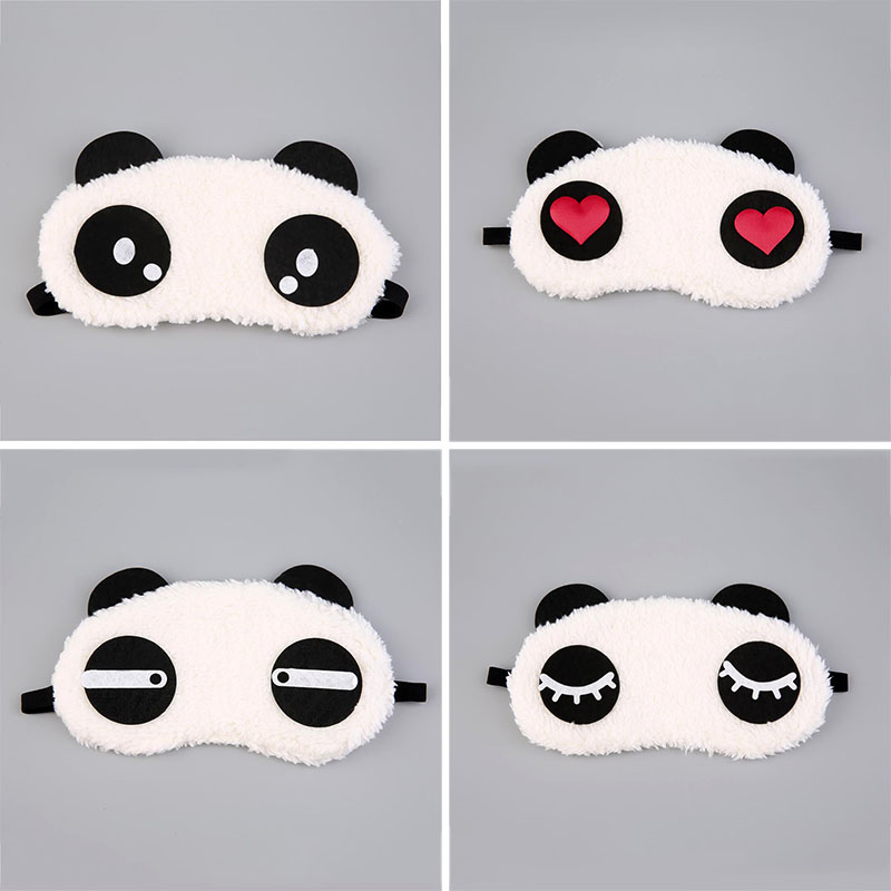Cute Soft Travel Relaxation Sleep Panda Eye Mask