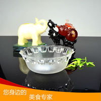 Wholesale decorative glass fruit bowl