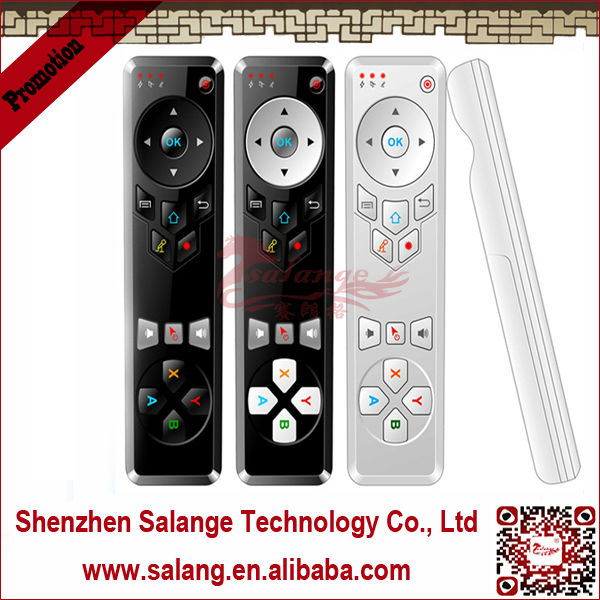 Hot Selling keyboard and air fly mouse for samsung smart tv with 3 Axes Gyro and 3 Axes Accelerometer By Salange