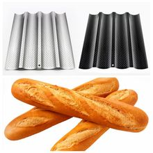 2017 High Temperature Resistant Baguette French Bread Baking Tray Nonstick Carbon Steel Baguette Bread Baking Mold Free Shipping