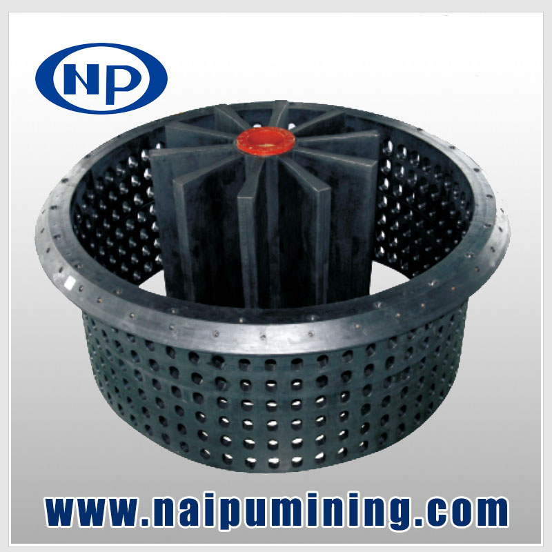 High quality mining rubber flotation machine rotor and stator