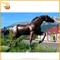 Outdoor Tang Dynasty Horse Sculpture Large Bronze Horse Sculpture