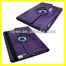 Purple crocodile pattern Case For Apple iPad 2, 3 4 New 360 Degree Rotating PU Leather Cover Stand