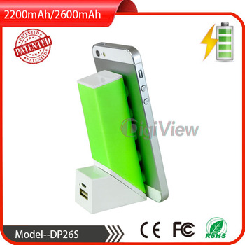 2600mAh samsung battery rechargeable power bank for all smart phones silicone suction cup power bank unique deisgn
