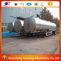 Aluminium Tank Trailer road tanker for transport fuel oil super diesel ,Jet Al,kerosene,aluminum trailer manufacturer sale price