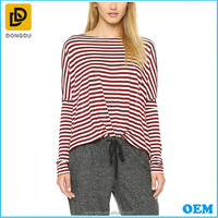 Hot Sale High Quality Custom Logo Maternity Cotton T-shirt Wear with Stripe pattern