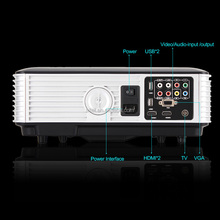 Home Theater Projector RD-806A 1080P Full HD LED Beamer Cinema Proyector Projetor with 5.8 In Display