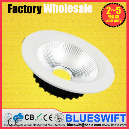 UL ISO9001 Approved Factory Price 30w LED COB Downlight