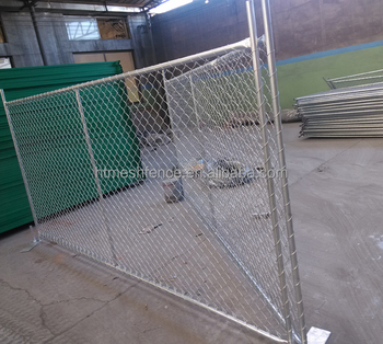 32mm Tube Temporary Chain Link Fence Panel with 6ft fence height