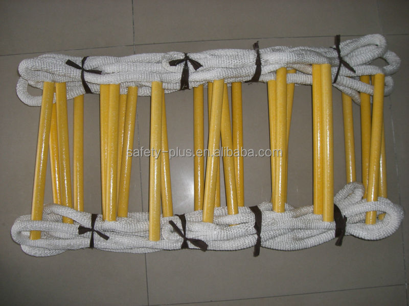 Fire escape rescue light weight nylon rope ladder folding ladder hot sale