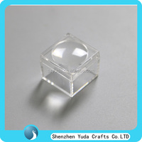 4 times magnifer 30x30x25mm clear plastic magnifer box