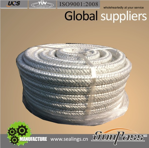 Jacket Reinforced Concrete C Glass Fiberglass Braided Square Rope