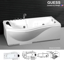 2015 new procucts massage bathtub/Acrylic Massage Bathtub Q-D40094