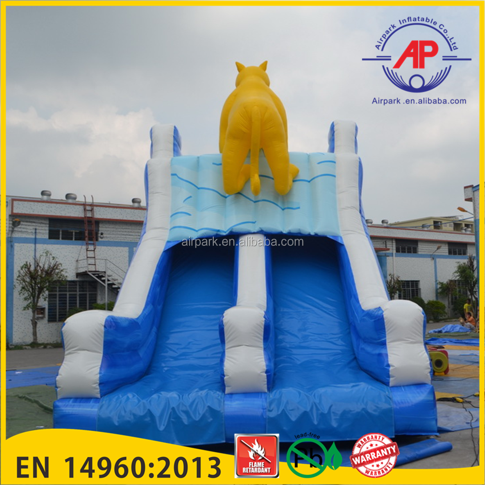 Africa Rhino Inflatable snow slide
