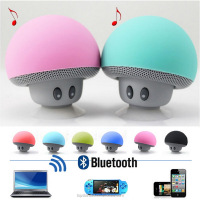 Cute Portable Mushrooms Sucker Waterproof Bluetooth Speaker,car speaker,mini speaker