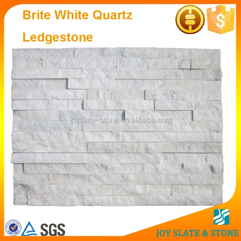 White quartz interior stacked stone panel/culture stone veneer wall