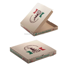 Corrugated cardboard customized Logo printing bulk cheap pizza box for take out delivery pizza
