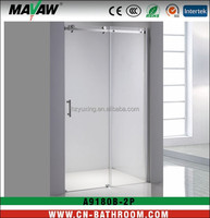 Europe 8mm tempered glass sliding shower screen/shower enclosure MV-A9180B-2P