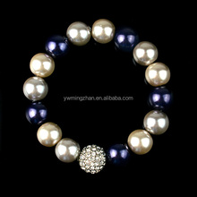 woven bracelets for girls statement pearl rhinestone ball elastic bracelets gold bracelet design for girls