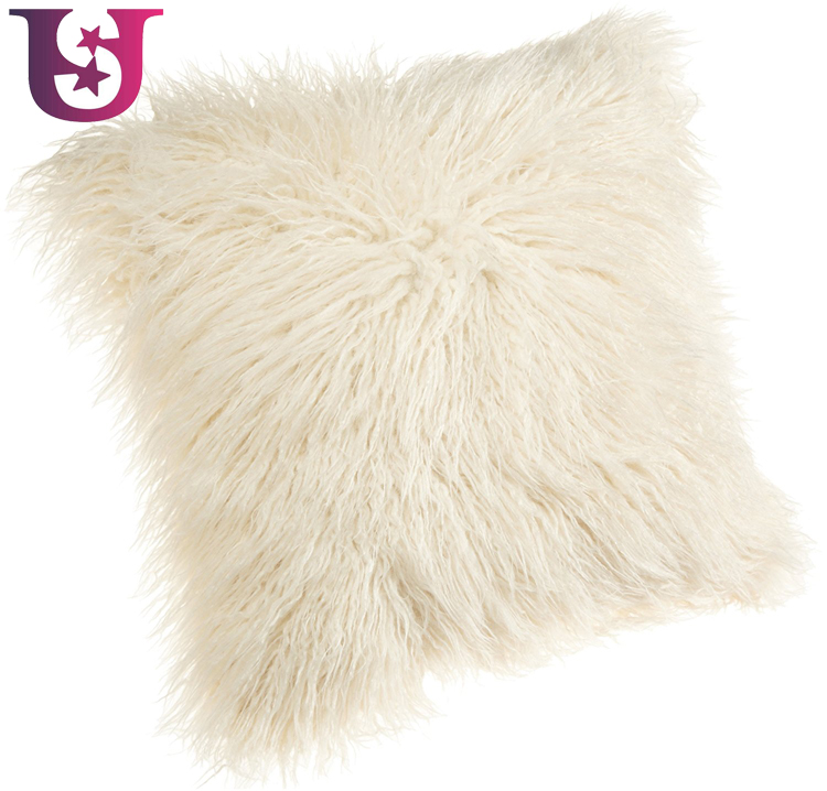 Mongolian Cushion Cover Plush 18-Inch Faux Fur Throw Pillow Covers 45CM Decorative Case