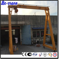 bottom price used mobile gantry crane 0.125 ton 0.5 ton arm length 10m