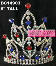 hot selling wholesale rhinestone fashionable girls discount tiaras crowns