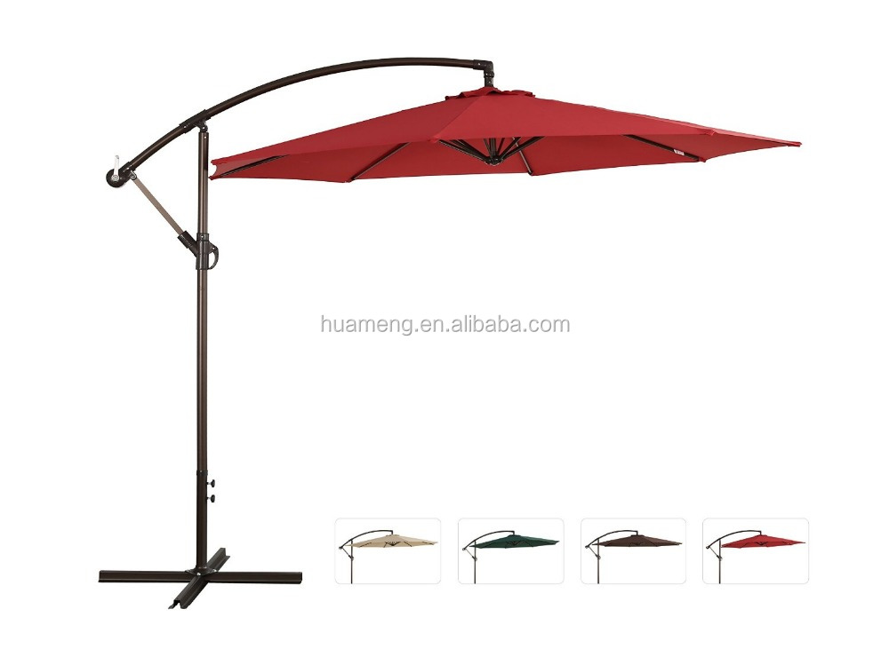 offset cantilever hanging patio umbrella water proof 10 ft 3m