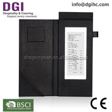 China Customized LED menu restaurant bill paper folder for menu manufacturer bill holder for bar & cafe